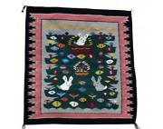 Wenora Joe Easter Pictorial Rug Navajo Handwoven 36 1/2and039and039 X 35and039and039