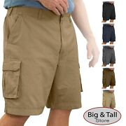 Big And Tall Sizes 42 - 72 Menand039s Rocxl Cargo Shorts Expandable Waist