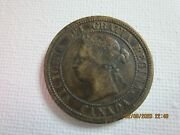 1882 Canadian One Cent In Awesome Shape Error Coin Missing Part Of O In Victoria