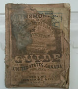 Original Dinsmore Railroad And Steam Navigation Guide Route Book 1857 Fold Out Map