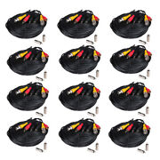 12 X 50 Ft Audio Video Power Wire Pre-made All-in-one Security Camera Cable C4g