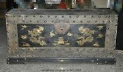 Huge Old Chinese Ancient Dynasty Official Lacquerware Wood Dragon Beast Andldquo镖andrdquoboxes