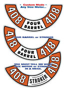 Dodge- Plymouth Andbull Air Cleaner Decal Andbull Any Cid Stroker Or Stock Cubic Inches