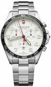 Watch Man Victorinox Field Watch V241856 Of Stainless Steel Silver Plated