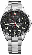 Watch Man Victorinox Field Watch V241855 Of Stainless Steel Silver Plated
