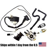 Ignition Coil Carburetor Filter Kit Fits Stihl 034 036 Ms340 Ms360 Pro Chainsaw
