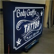 Double Sided Led Light Box Sign, Signs, Pole Sign, 48x96x10'' Extruded Aluminum