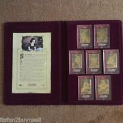 Disney Snow White Seven Dwarfs 24 Kt Gold Plated Collector Cards Nno / 1937 Set