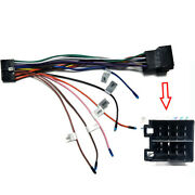 Car Radio Stereo Dvd 20pin Iso Wiring Harness Connector +rearview Camera Adapter