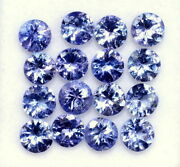 Natural Violet Blue Tanzanite 4 Mm Round Cut Faceted Loose Aaa Gemstone Lot
