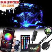 14pc Bluetooth Led Motorcycle Under Glow Light Kit W Remote + App Control