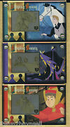 Disney Sleeping Beauty 40th Anniv 24 Kt Gold Set Of 3 Collectible Cards 025/300