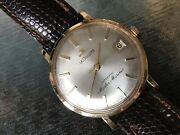 Vintage Jaeger Lecoultre Master Mariner Watch Solid 14k Gold 1950s Wristwatch