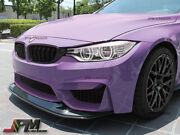 Gts Style Carbon Fiber Front Bumper Add-on Lip 2pc For 15-17 Bmw F80 M3 And F82 M4