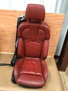 Red Leather Seat Right Side Bmw F12 M6 650i 44k Oem For Parts