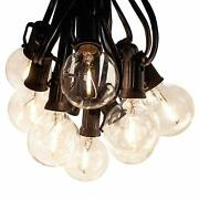 G40 Led Filament Outdoor Patio Globe String Lights 100and039 50and039 And 25and039 Lengths