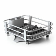 Oxo Good Grips Large Aluminum Sink Dish Rack Drying Tray Drainer Gray Open Box