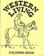 Western Living Coloring Book By Loree's Art 1993, Paperback