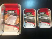 30 Weber Drip Pan Pans Aluminum, New In Package