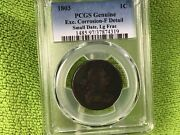 1803 Draped Bust Large Cent Small Date Lg Fraction Pcgs Fine - Details