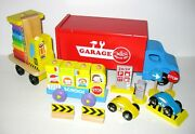Mixed Lot Colorful Wood Wooden Toy Vehicles / Trucks