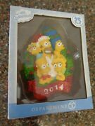 Simpsons Family Dated 2014 Christmas Ornament 25th Anniversary Department 56 New