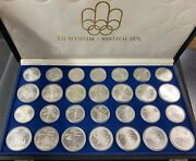 Coins Monete Medals Olimpiche In Argento Canada Montreal 1976 Sterling 925