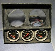Custom Fabricated Instrument Cluster With 3 Autometer Gauges - Ideal For Rat Rod