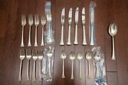 Gorham Newport Scroll Sterling Silver Flatware Set – Service For 5 – 21 Pieces