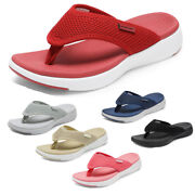 Dream Pairs Womenand039s Arch Support Soft Cushion Flip Flops Thong Sandals Slippers