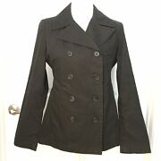 Gap Womenand039s Black Double Breast Peacoat Light Weight Size Xs