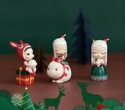 Dream Of Fairy Tale White Christmas Lite Art Designer Toy Collectibles Figurine