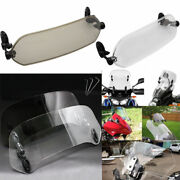Motorcycle Parts Adjustable Clip On Windshield Spoiler Windscreen Air Deflector