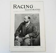 Horse Racing Illustrated 1896 Magazine Melton House Stables Newmarket Ascot