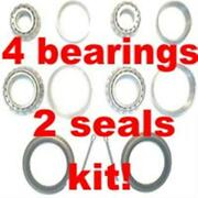 4 Front Wheel Bearings And 2 Seals Oldsmobile 1969-1992-replace And Repack Now