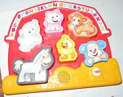 Laugh Learn Animal Farm Abc Puzzle Songs Sounds Learning Fisher Price 2014 Nice