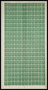 Sg 505c 1½d Green Complete Sheet Cyl 192 No Dot Unmounted Mint