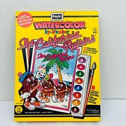 Vintage The California Raisins Watercolor Paint By Numbers Set Rose Art 1988 Nos