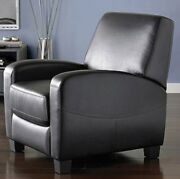 Black Leather Recliner Armchair Club Chair Office Furniture Arm Chairs Recliners