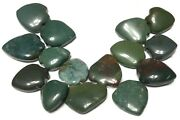 Nice Mali Antique Green Agate Stone Pendant West African Trade Beads