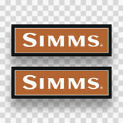2x Simms Stickers Decals Vinyl Fishing Trout Fly Fish Outdoor Sports Window