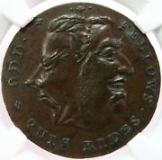 1790 Great Britain Middlesex Ms 63 1/2 P Spences Odd Fellow Conder Token Dandh 804