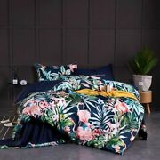 Duvet Cover Fitted Bed Sheets Bedding Set Egyptian Cotton Printed Bedroom Covers