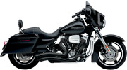 Cobra 2-2 Black Curved Short Swept Motorcycle Exhaust 10-16 Harley Touring Flhx