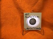1827 Capped Bust Dime Pointed 1 On Reverse 10 C. Partial Liberty