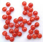 Natural Italian Red Coral 6 Mm Round Cabochon Loose Aaa Quality Gemstone Lot