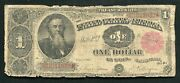 """Fr. 351 1891 1 One Dollar In Coin """"stanton"""" Treasury Note"""