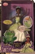 Disney The Princess Tiana And The Frog African American Doll 2009 Mattel Nrfb