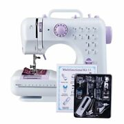 Mini Sewing Machine With Led Light Multi-function Portable Crafts Machines New