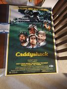 Bill Murray And Chevy Chase Signed Caddyshack 12x18 Movie Poster Beckett Bas Rare